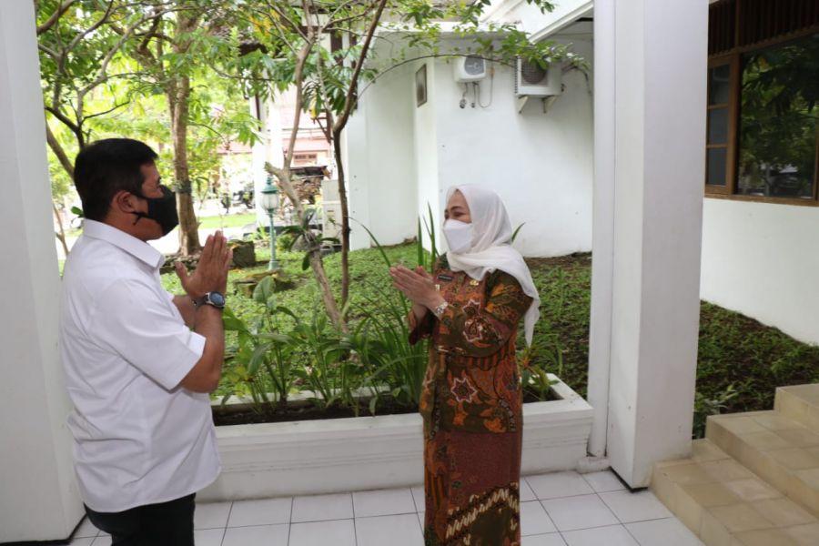 Koordinasi Penanggulangan Covid-19, Kepala BIN Daerah Jatim Kunjungi Bojonegoro