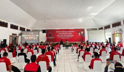 Ditengah Pandemi Covid 19 Rakercab PDIP Bojonegoro Terus Genjot Konsolidasi Partai