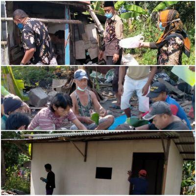 Giat Gotong Royong, Masyarakat Desa Dander Bangun Rumah ODGJ Hadiah Dihari Kemerdekaan