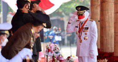 Gubernur Jatim Pimpin Langsung Upacara Peringati HUT RI ke 76