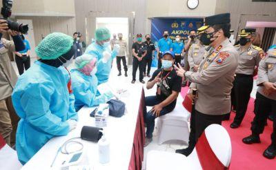 Kapolda Jatim Beri Apresiasi Kepada Akpol 95 Patriatama Berbakti di Masa Pandemi, Menggelar Vaksinas