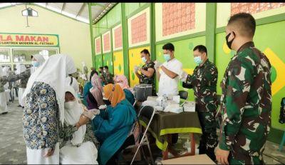 Kejar Herd Immunity, Kodim Bojonegoro Gelar Serbuan Vaksinasi Serentak di Empat Lokasi