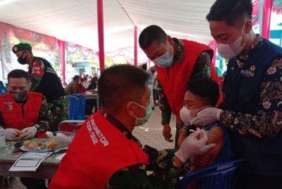 Kodim 0812 Lamongan Sasar Vaksinasi di Pondok Pesantren Muhammadiyah Karangasem Paciran