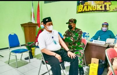 Kodim Bojonegoro Kembali Gelar Vaksinasi Dosis Kedua untuk Ratusan Naker Koperasi Karep
