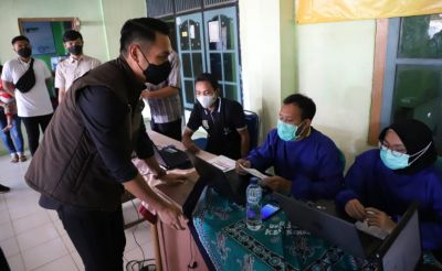 Mas Bupati Bersama Polres dan Damdim 0811/Tuban Lakukan Peninjauan Vaksinasi
