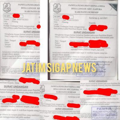 Miris, Salah satu Oknum Mengambil Surat Undangan Pilkades yang Bukan Haknya di TPS 5 Dusun Longos