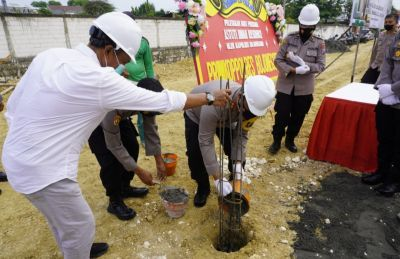 Peletakan Batu Pertama Astuti Indah Residence Oleh AKBP EG Pandia
