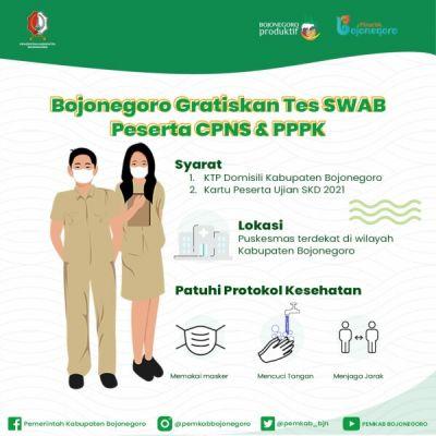 Pemkab Bojonegoro Gratiskan Tes Swab Antigen Bagi Peserta Tes CPNS dan PPPK