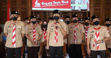 Peringatan Hari Pramuka ke-60 Tingkat Jawa Timur Dilaksanakan Secara Virtual