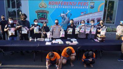 Satresnarkoba Polrestabes Surabaya Berhasil Gagalkan Peredaran 13,4 Kg Sabu